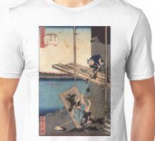 Asakusa oumayagashi - Hirokage Utagawa - 1859 Unisex T-Shirt