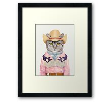 Country Cat Framed Print