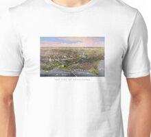 Washington Vintage Aerial View Restored 1880 Unisex T-Shirt