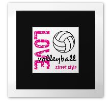 Love Volleyball Street Style  Framed Print