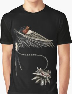 Witcher - Wolf and Swallow Graphic T-Shirt