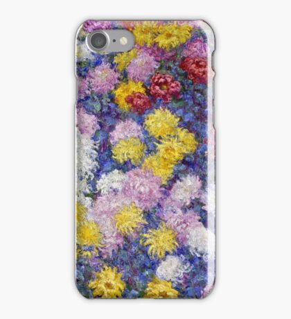 Claude Monet - Chrysanthemums, 1897  iPhone Case/Skin