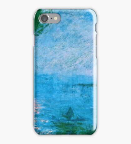 Claude Monet - Charing Cross Bridge Fog on the Thames (1903)  iPhone Case/Skin