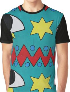 Circus Eyes Graffiti Graphic T-Shirt