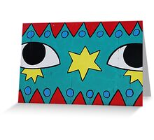 Circus Eyes Graffiti Greeting Card