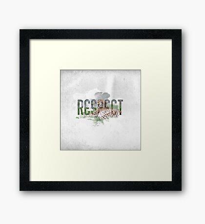 RESPECT Animals Framed Print