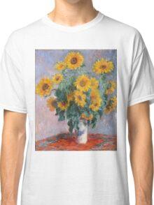 Claude Monet - Bouquet Of Sunflowers Classic T-Shirt