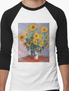 Claude Monet - Bouquet Of Sunflowers Men's Baseball ¾ T-Shirt