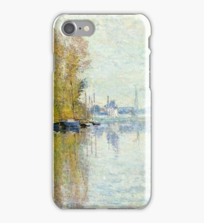 Claude Monet - Autumn On The Seine, Argenteuil 1873  iPhone Case/Skin