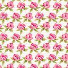 Pink roses pattern by SIR13