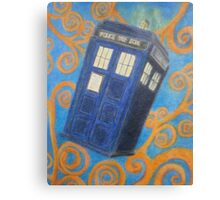 The Flying Blue Box Canvas Print