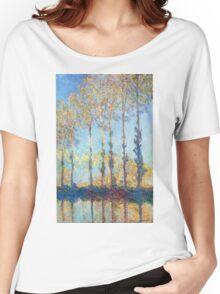 Claude Monet - Poplars On The Banks Of The Epte 1891 Women's Relaxed Fit T-Shirt