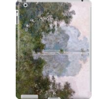 Claude Monet - Morning On The Seine, Near Giverny  iPad Case/Skin