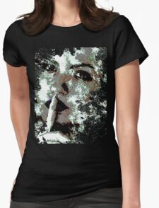 Cool Graphic Abstract Woman's Face Womens Fitted T-Shirt
