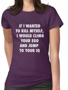 Climb and Jump Womens Fitted T-Shirt