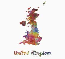 United Kingdom in watercolor Baby Tee