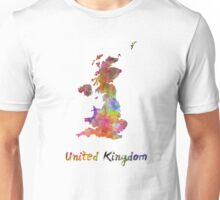 United Kingdom in watercolor Unisex T-Shirt