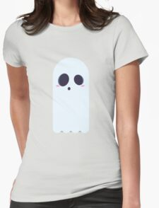 Spooky Ghost Womens Fitted T-Shirt