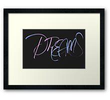 Dreams (Brush Calligraphy) Framed Print