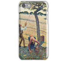 Camille Pissarro - Apple Harvest (1888)  iPhone Case/Skin