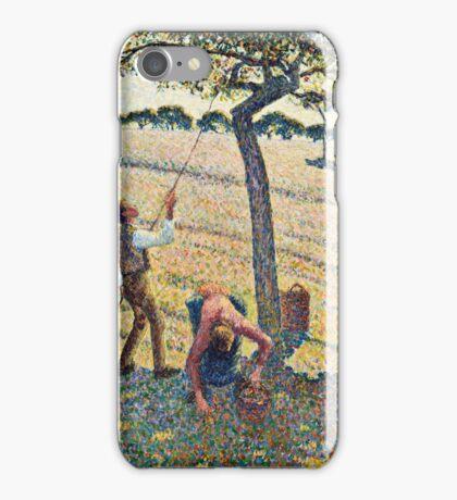Camille Pissarro - Apple Harvest (1888)  iPhone Case/Skin