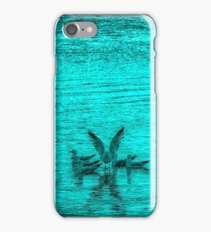 Blue Seagulls iPhone Case/Skin