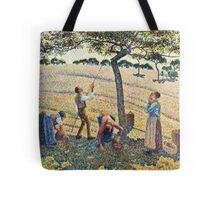 Camille Pissarro - Apple Harvest (1888)  Tote Bag