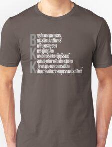 Bangkok city BKK typographic design Unisex T-Shirt