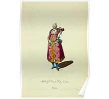 Habit of a Persian lady in 1700 Persienne 223 Poster