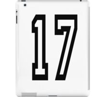 17, TEAM SPORTS, NUMBER 17, SEVENTEEN, SEVENTEENTH, ONE, SEVEN, Competition,  iPad Case/Skin