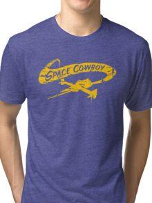 Space Cowboy - Distressed Yellow Tri-blend T-Shirt