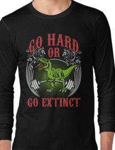 Go Hard or Go Extinct (Deadlift T-Rex) Vintage Long Sleeve T-Shirt
