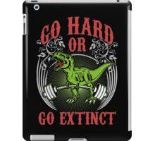 Go Hard or Go Extinct (Deadlift T-Rex) Vintage iPad Case/Skin
