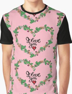 I love you heart Graphic T-Shirt