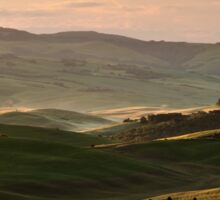 Sunrise in Val d'Orcia, Tuscany Sticker