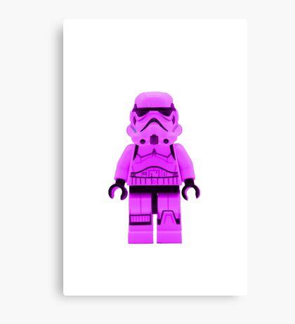 Lego Storm Trooper in Purple Canvas Print
