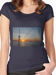 Sunset from the ship Women's Fitted Scoop T-Shirt
