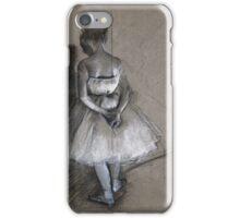 Edgar Degas - Dancer Standing, Her Hands Crossed Behind Her Back iPhone Case/Skin