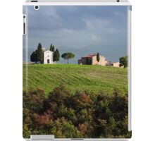 The chapel Vitaleta in Val d'Orcia, Tuscany iPad Case/Skin