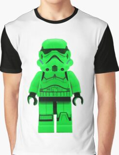 Luminous Green Lego Storm Trooper Graphic T-Shirt