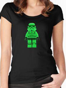 Luminous Green Lego Storm Trooper Women's Fitted Scoop T-Shirt