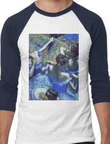 Edgar Degas - Blue Dancers  Men's Baseball ¾ T-Shirt