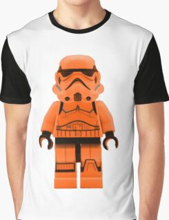 Orange Lego Storm Trooper Graphic T-Shirt