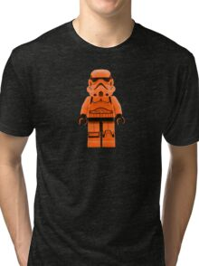 Orange Lego Storm Trooper Tri-blend T-Shirt