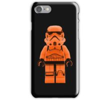 Orange Lego Storm Trooper iPhone Case/Skin