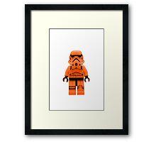Orange Lego Storm Trooper Framed Print
