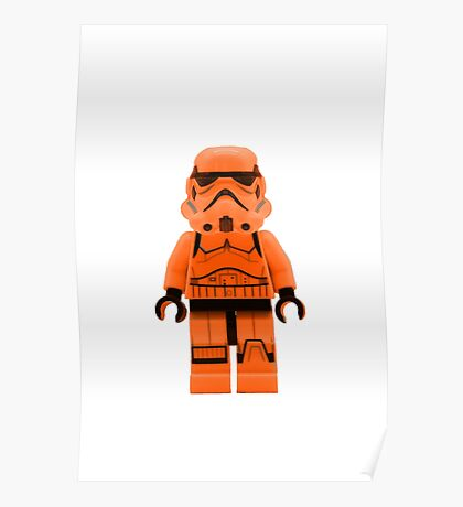 Orange Lego Storm Trooper Poster