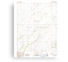 USGS TOPO Map Arizona AZ Giants Chair 311461 1991 24000 Canvas Print
