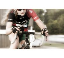 Beauty and the Bike  Photographic Print
