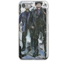 Edvard Munch - Workers In The Snow 1913 iPhone Case/Skin